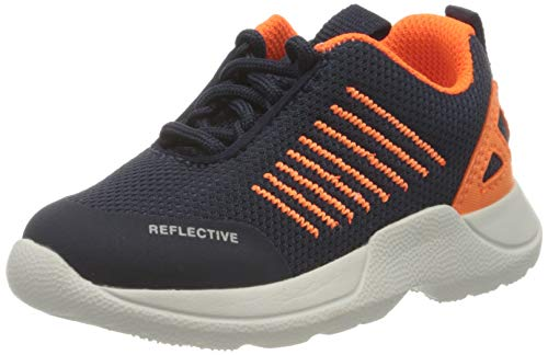 Superfit Jungen Rush Sneaker, Blau (Blau/Orange 80), 23 EU