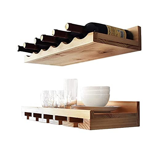 YINGGEXU Botellas Estante del vino - Polivalente - montado en la pared Estantería de vino