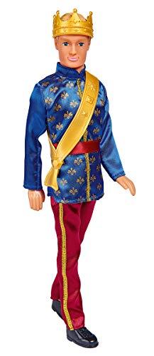 Simba 105733343 - Steffi Love Kevin Prince / Kevin als Prinz / im eleganten Anzug / mit goldener Krone und Schärpe/ Ankleidepuppe / 30cm, für Kinder ab 3 Jahren