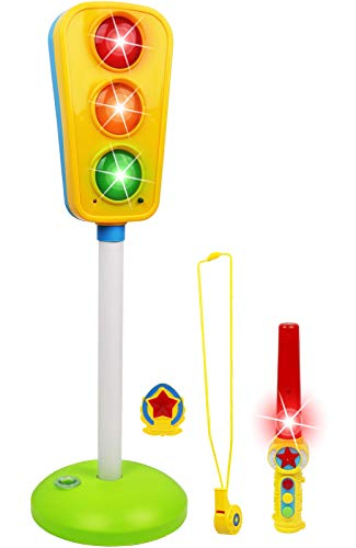 Kiddie Play Traffic Light Toy for Kids Cars and Bikes with Lights and Sounds