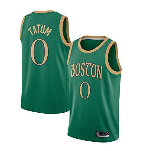 ADHA Camiseta De Baloncesto De Los Celtics # 0 Jayson Tatum para Hombre, Nuevo Uniforme De Baloncesto De 2021, Camiseta Sin Mangas Unisex Bordada Y Transpirable Camiseta City Version-XL