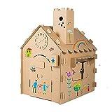 ROCK1ON DIY Doodle Wellpappe Spielhaus Kombination Berghütte Rollenspiel Haus für Kinder...