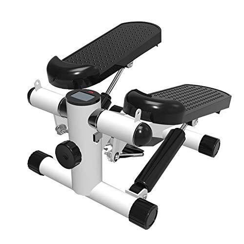 WYW 2in1 Mini Stepper,Nutzergewicht Bis 150kg, VerschleißFreie Hydraulik Zylinder, Geeignet füR Gewichtsverlust Fitness und Aerobic,Wirksam füR AnfäNger und Experten,Weiß