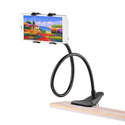 jbTec Handy-Halter mit Schwanenhals und Tisch-Klemme 50cm Schwarz - Tisch-Halterung Tisch-Klammer Smartphone Holder