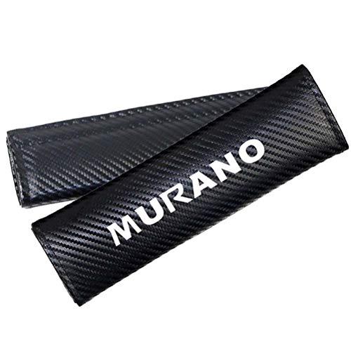 WSJXDJ 2 Piezas de Fibra de Carbono PU Cuero cinturón de Seguridad de Coche Cubierta de protección Acolchado Accesorios Estilo de Coche para Nissan Murano