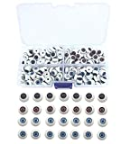 Bestartstore 1Box(80pcs) 10mm 4 Colors Doll Eyeballs Half Round Acrylic Eyes for DIY Doll Bear Crafts Sewing Embellishment