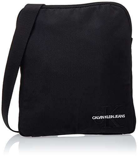 Calvin Klein Herren Monogram Nylon Micro Flatpack Taschenorganizer, Schwarz (Black), 2x21x18 cm
