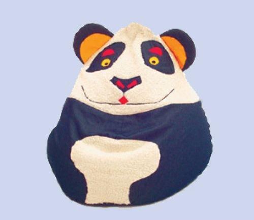 Theraline 76041800 Kegelsitzsack im Tierdesign Panda mittel, circa 120 Liter