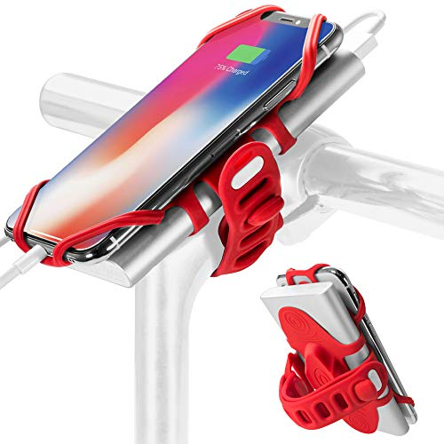 Bone Collection smartphone en powerbank houder fiets Bike Tie Pro Pack rood, 13,4 x 6,5 x 4,8 cm