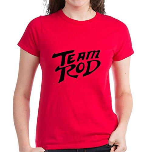 CafePress Team Rod Women's Dark T Shirt Womens Cotton T-Shirt Red