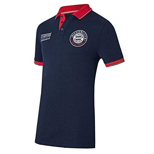 FC Bayern Múnich - Polo compatible con camiseta + pegatina de Múnich Forever, camiseta, FCB, camiseta (M)