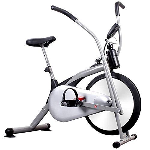 WGFGXQ Ventilador de Bicicleta Vertical SanQing Bicicleta estática con Sistema de Resistencia al Aire - Equipo de Ejercicios de Resistencia Infinita para Exteriores/domésticos, Blanco