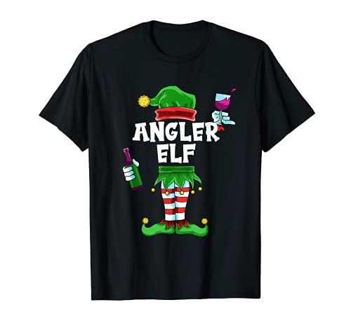 Hombre Diseño de ángel de pescador, ideal para Navidad, familias Camiseta