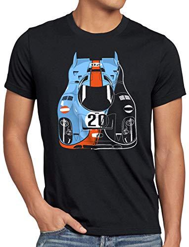 style3 917K Campeón Camiseta para Hombre T-Shirt le Mans Coche de Carreras, Talla:S