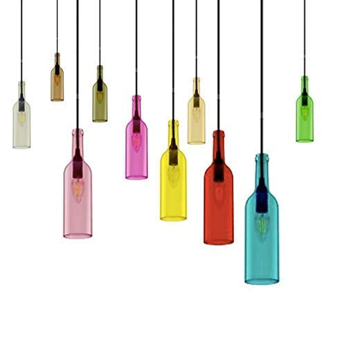 V-TAC SKU. 3774 hanglamp fles lamp vt-7558, kunststof en andere materialen, E14, lila, hoogte x breedte x diepte: 72 mm x 280 mm x 1050 mm