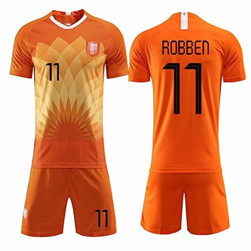 Fußballuniform der niederländischen Nationalmannschaft 11 # ROBBEN For9 # U PERSIE Fußball-Sportbekleidung, das Training der Trikotanzüge für erwachsene Kinder kann individuell angepasst werden-N
