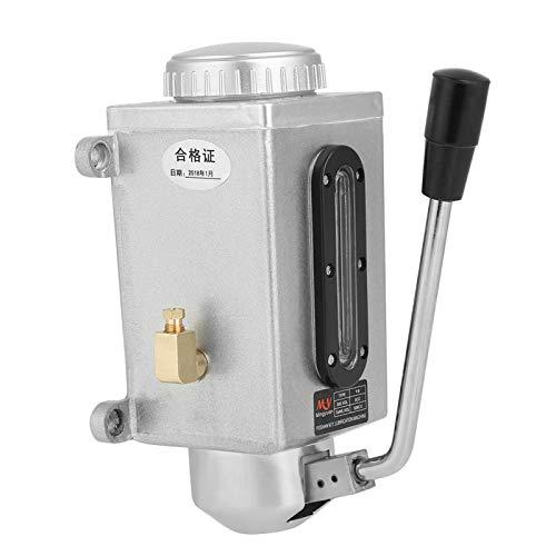 Bomba manual de metal de alta calidad resistente al desgaste de doble puerto, bomba de lubricación, para máquina de torno para punzonadora