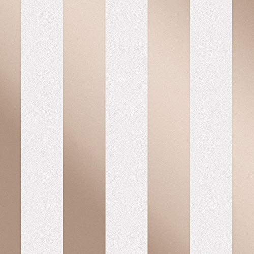Fine Décor fd42246 Monaco Stripe, Rose Gold