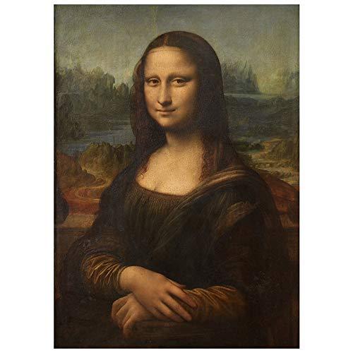Kunstdruck auf Leinwand - Mona Lisa (La Gioconda) cm. 50x70 - Wanddeko, Canvas