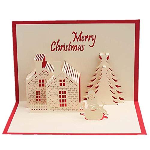 7777777 driedimensionale kerstwensen wenskaart creatieve handgemaakte kaarten 10 stuks