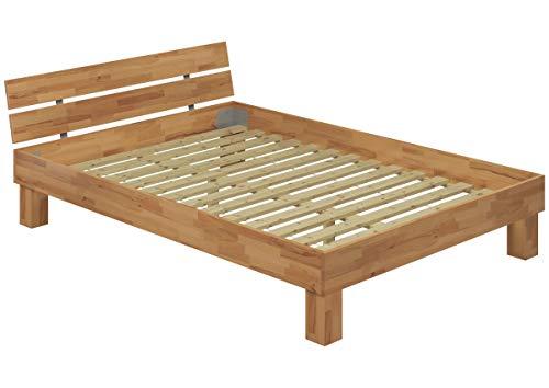 Erst-Holz® 60.80-14-220 Bett Buche Massivholz Natur lackiert 140x220 cm