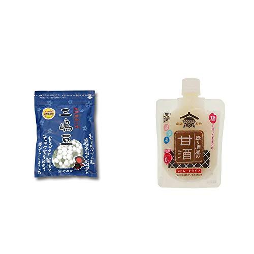 [2点セット] 飛騨 打保屋 駄菓子 三嶋豆(150g)・天領 造り酒屋の甘酒 ストレートタイプ(130g)