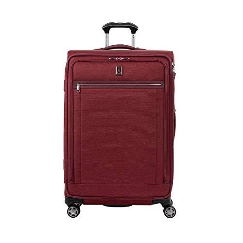 Travelpro Platinum Elite valigia extra large morbida 4 ruote direzionali 83x53x34 cm, estensibile e durevole, con chiusura TSA, 144 litri, bagaglio viaggio, colore rosso, Garanzia 10 Anni
