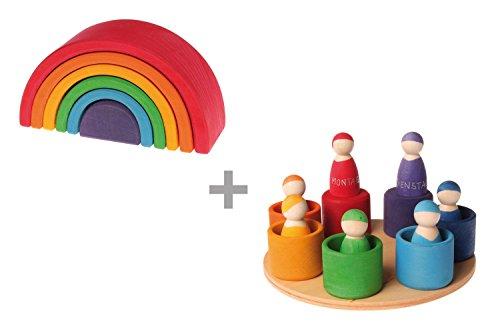 Grimms Spiel und Holz Design Arc en Ciel et poupées, Grimm`s