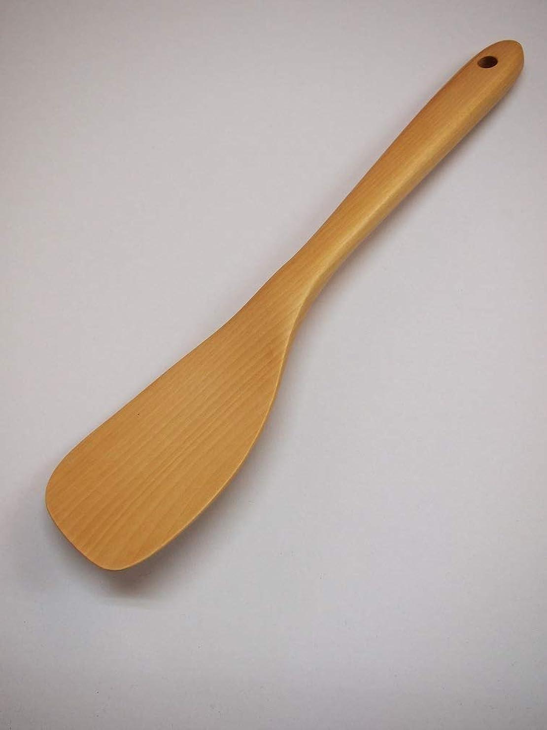外側飢柔らかい自然素材で作った 木製 フライ返しM【左利き用】 ツゲ製 ショップSai