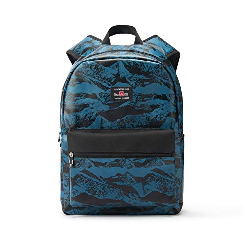 "17"" Travel Laptop Backpack Water Resistant with USB Charging Port for Women & Men School College Students Backpack Fits 15.6"",15"",14"" Laptop (Valley Mountain Pattern-Blue)"