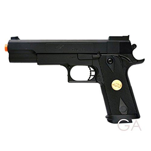 BBTac Airsoft Pistol Handgun Government .45 1911 Spring Loaded Gun , Black