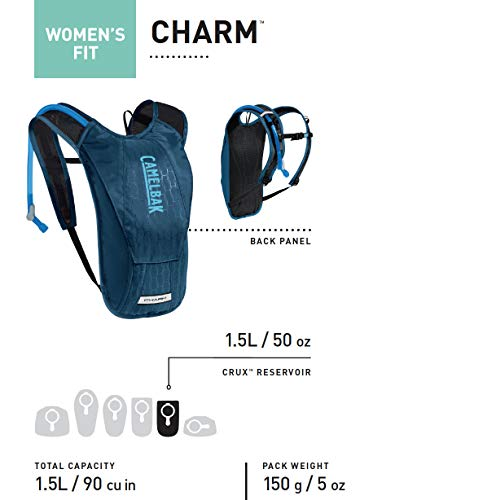 CamelBak Women's Charm Crux Reservoir Hydration Pack, Deep Purple/Graphite, 1.5 L/50 oz