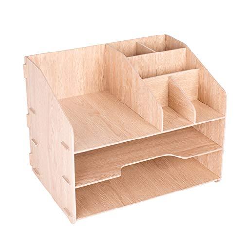 FRACK bureauorganizer, bamboe, pennenhouder, multifunctioneel gereedschap, bureau-organizer, schrijftafel, tidy bureau-opbergkast