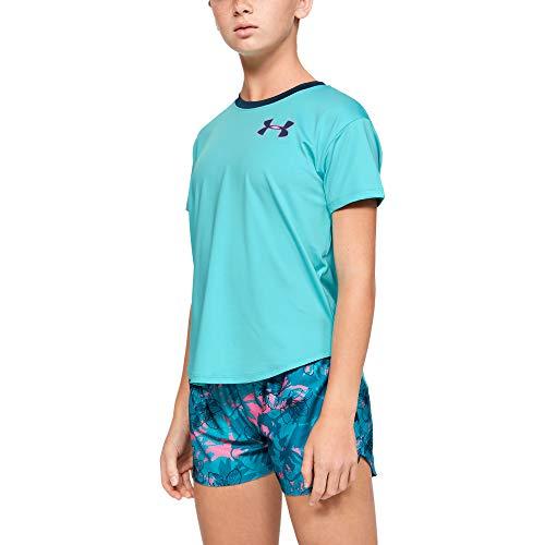 Under Armour Mädchen Armour HeatGear Shortsleeve Kurzarmshirt, Blau, YMD