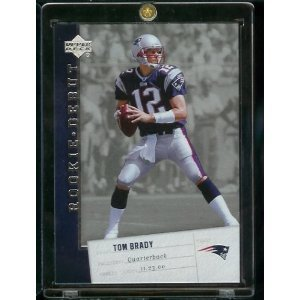 2006 Upper Deck Rookie Debut Tom Brady New England Patriots Football Card #57 - Mint Condition-shipped in Protective Screwdown Display Case