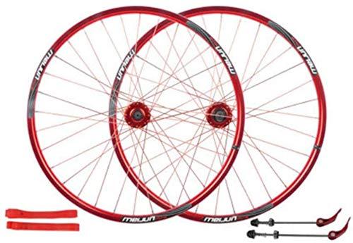WYJW Ruedas Juego de Ruedas de Bicicleta de 26 Pulgadas, Ruedas de Bicicleta de aleación de Aluminio de Doble Pared 32H, Freno de Disco, Juego de Ruedas de Bicicleta de montaña, válvula