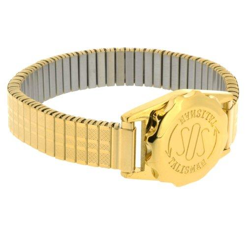 SOS Talisman - Reloj de pulsera para mujer, chapado en oro, expansible, 12 mm