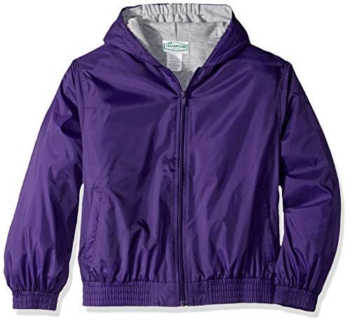 Classroom School Uniforms Kids' Big Zip Front Bomber Jacket, Dark Purple, L