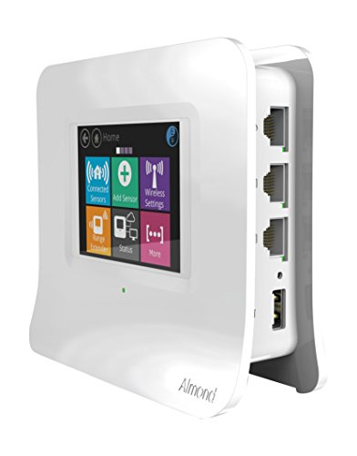 Securifi AL3-WHT-US Almond 3 (White): Complete Smart Home Wi-Fi System - Easy to Set up Dual Band Gigabit Wi-Fi Router, Built-in Security Siren, Universally Compatible with modems - Works with Alexa