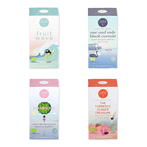 Just T Bio Tee Set Detox Your Life mit Organischem Tee Auswahl für Körper und Seele (Teebeutel (4 x 20))