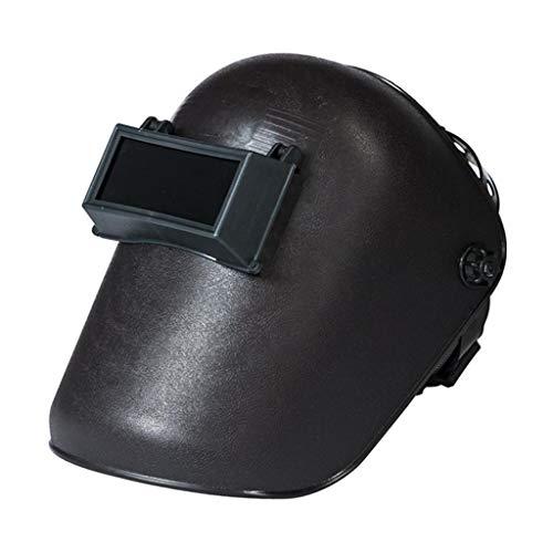 freneci Máscara de Soldadura, casco de soldadura montado en la cabeza ajuste casco, sombra 8, protección facial resistente al calor
