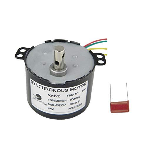 CHANCS 50KTYZ Synchronous Gear Motor 100-120RPM 110V 6W Electric Motor CW/CCW Permanent Magnet Synchronous Micro AC Motor