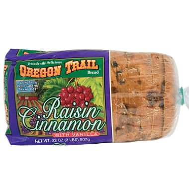 Oregon Trail Bread, Raisin Cinnamon w/ Vanilla (32 oz.) (pack of 6)