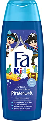 Fa Kids Duschgel & Shampoo Piratenwelt, mit dem Duft des wilden Meeres, 250 ml