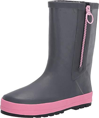 Western Chief Kids Girl's Peree Rain Boots (Little Kid/Big Kid) Charcoal 4 Big Kid M