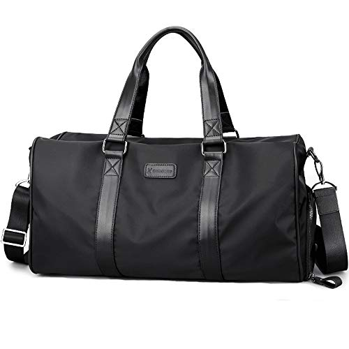 HTMAL Travel Bag mannen Business Travel Bag Grote Capaciteit Korte Reistas Sport Duffel Bag Fitness Bag Schouder Messenger Bag Licht Mode Grote Capaciteit Verdikking Comfortabele Draagbare