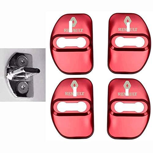 4 Piezas Acero Inoxidable Coche Puerta Cubierta Cerradura para Renault Megane 2 Megane 3 Scenic Laguna 2 Captur Fluence Latitude CLIO, Pestillo Cerradura Protección Tapa Rust Guardia Interior