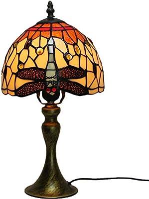 LBZJD Shade Lámpara De Mesa Lámpara De Vidrio Manchado De La