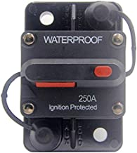 ANJOSHI 250 Amp Circuit Breaker 20A-300A with Manual Reset Waterproof Inline Fuse Inverter for Marine Trolling Motors Boat...