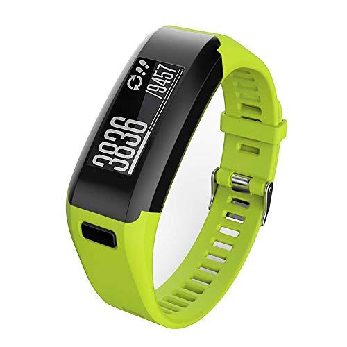 Meoket Compatible para Garmin Vivosmart HR Smart Watch,Correa de Silicona Garmin Vivosmart HR Smart Watch (Verde Claro)